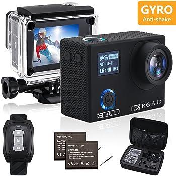 IXROAD Action Cam 4K Gyro WiFi Action Camera Fotocamera Telecamera Subacquea Videocamera Sportiva con Telecomando
