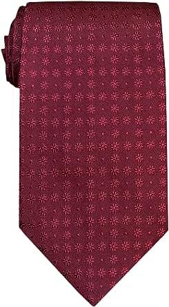 Remo Sartori - Cravatta in Seta Bordeaux Fiorellini Tono su Tono, Made In Italy, Uomo