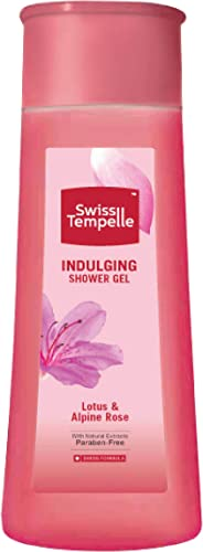 Swiss Tempelle Shower Gel - Indulging - Lotus & Alpine Rose, 250 ml