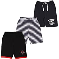 MIDAAS Boy's Regular Shorts(Pack of 3)