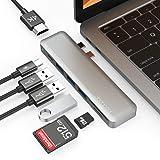 dodocool Hub USB C Adattatore per MacBook PRO 7 in 1, con Thunderbolt 3, 4K HDMI, 3 USB 3.0, Lettore Schede SD/TF per MacBook
