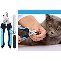 THE DDS STORE Cat Nail Clipper with Safety Guard to Avoid Over-Cutting & Free Nail File, Dog Nails Clippers Small to…