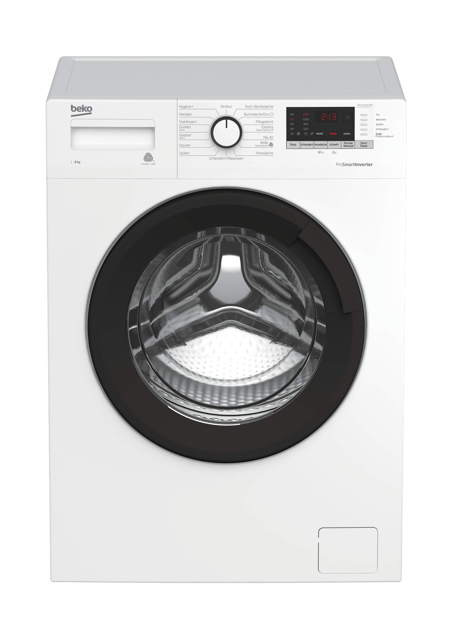 Beko WML 81434 NPS Waschmaschine Frontlader, 8 kg Füllmenge, Aquawave-Schontrommel
