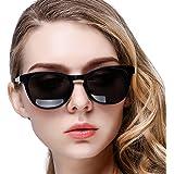 KANASTAL Occhiali da Sole Donna Polarizzati Vintage Classici Moda con Protezione UV400 Retro Sunglasses Women