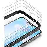 TAMOWA Skärmskydd för iPhone 12 Pro Max, 3-pack, premium härdat glasfilm 9H hårdhet skottsäker skärmskydd med installationsra