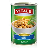 "24pz - Ceci ""VITALE"" Legumi in Latta Lattina 400g 100% ITALIANO - Made in Italy - Cartone da 24 Pezzi"