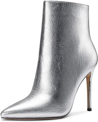 CASTAMERE Stivali Donna Cerniera Polacchine Tacco a Spillo 10CM High Heels