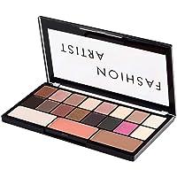 SWISS BEAUTY Fashion Artist Eyeshadow And Blusher Palette Of 16 Eyeshadow, 1 Bronzer, 1 Blusher, 1 Highlighter (30 g)