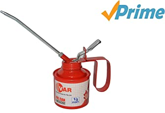 VAR Oil can 1/2 Pint 238ml for car and Bike, Lever Type Pump Body with 16 cm Nozzle
