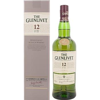 Glenlivet 12 Jahre Single Malt Scotch Whisky mit Geschenkverpackung (1 x 0.7 l)