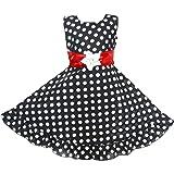 ZOOBA Girl's Cotton Frock Knee Length Dress