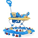 LuvLap Comfy Baby Walker & Rocker, Height Adjustable with Light & Musical Toys, 6m+ (Blue)