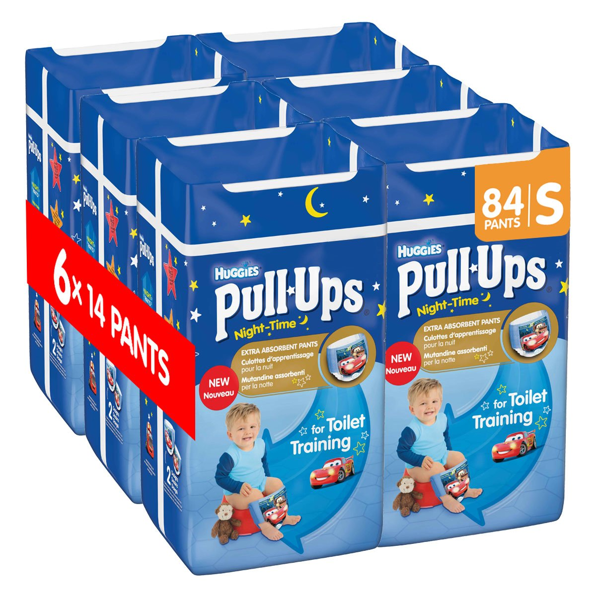 Huggies Pull Ups Night Time Potty Training Pants For Boys Large 60 Pants Total Amazon Co Uk Health Personal Care