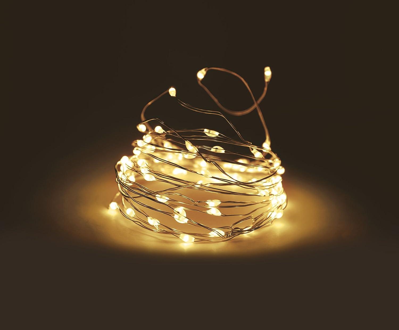 Micro Lichterkette 320 LED warmweiß - 29m - Mikro Draht Lichterkette ...