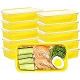 Contenants de préparation de repas avec couvercles, boîte à lunch de qualité supérieure sans BPA réutilisable pour lave-vaiss