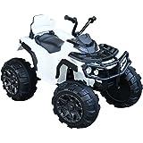 homcom Quad per Bambini Elettrico Batteria 12V 2 velocità con Luci e Presa USB Ruote Ammortizzate, 103x68x73cm