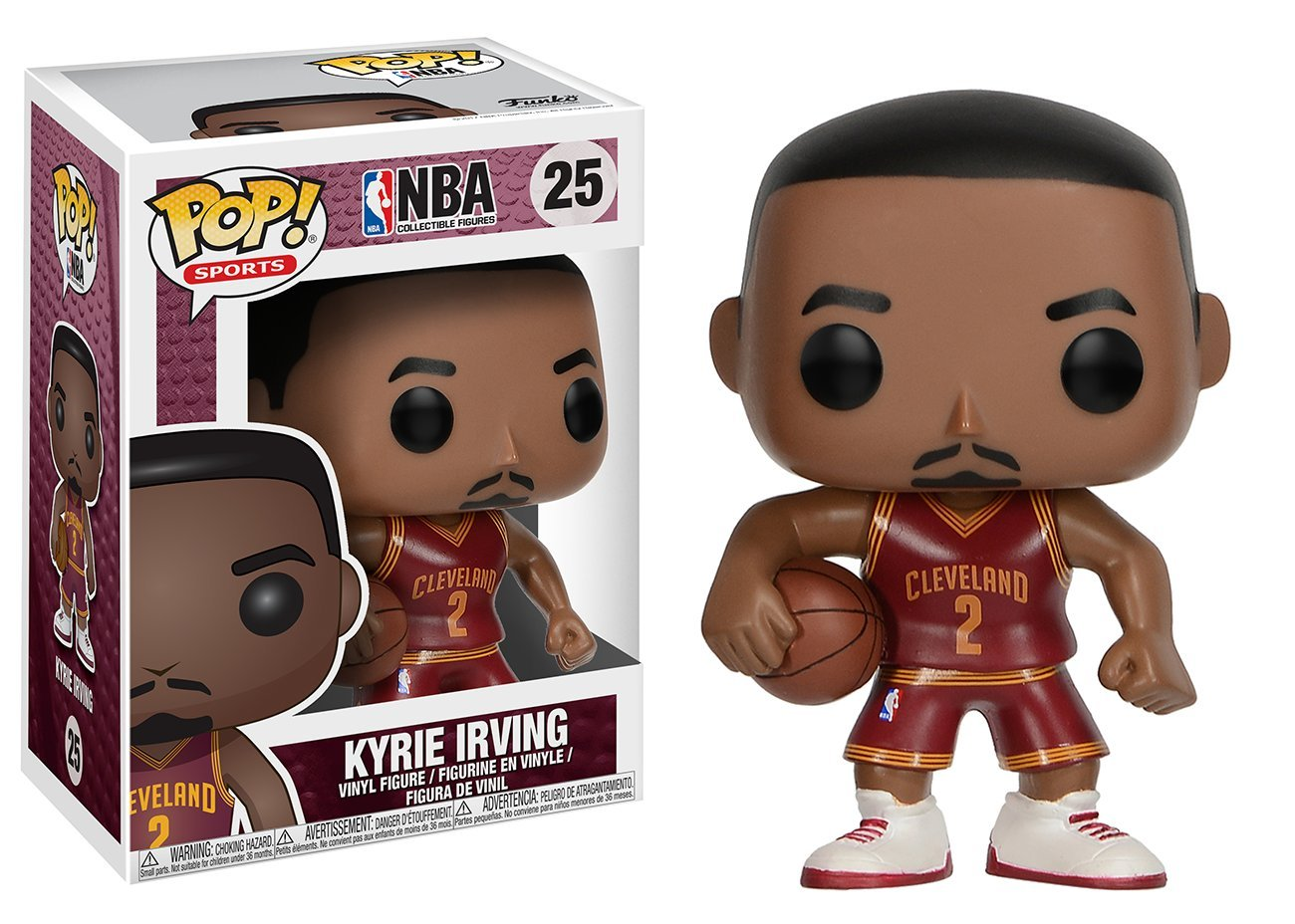 Funko Pop Kyrie Irving Cleveland Cavaliers camiseta roja (NBA 25) Funko Pop NBA