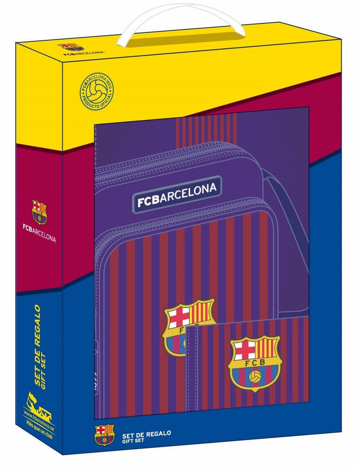 Safta F.C Set de Regalo, FC Barcelona Azul, 28 x 35 x 60 cm