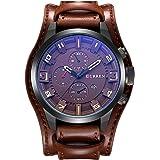 ساعة كورين أصلية رياضية للرجال مضادة للماء بسوار جلدي بخاصية عرض التاريخ وجودة عالية 8225