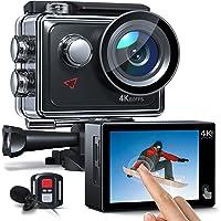 AC920 Action Cam 4k/60fps 20MP EIS Anti-Shake WiFi Touchscreen Helmkamera 40M Unterwasserkamera mit Fernbedienung und…