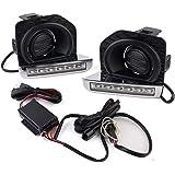 2 Pack Genius GN-3700 Daylight Running Light LED DRL Kit Fog Daytime Lamp with Blue Turn Signal