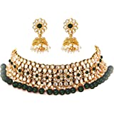 YouBella Jewellery Sets for Women Gold Plated Kundan Bridal Necklace Jewellery Set with Earrings for Girls/Women