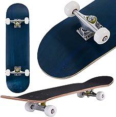 COSTWAY Skateboard Minicruiser Komplettboard Longboard Funboard Holzboard Ahornholz Farben zur Wahl 79 x 20 cm