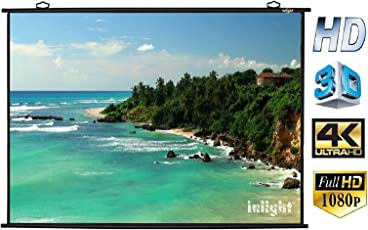 Inlight Map Type Projector Screen, 6Wx4H (In Imported High Gain Fabric A+++++ Grade)