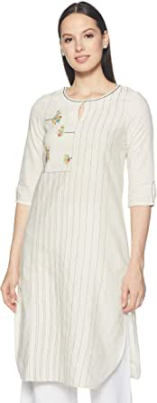 W for Woman Women's cotton Straight Kurta