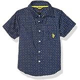 الولايات المتحدة الأمريكية قميص بولو للاولاد باكمام طويلة من قماش منسوج بازرار
