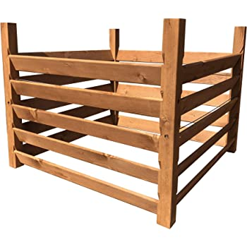 Holz Kompostsilo Bio Komposter Mit Zuganker Amazon De Garten