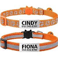 TagME katzenhalsband mit Namen und Telefonnummer auf,katzenhalsband mit sicherheitsverschluss, 2Pack