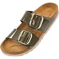 Palado® Damen Sandale Samos GS in vielen Farben | Made in EU | Pantoletten mit Natur Kork-Fussbett und weichem Fußbett…