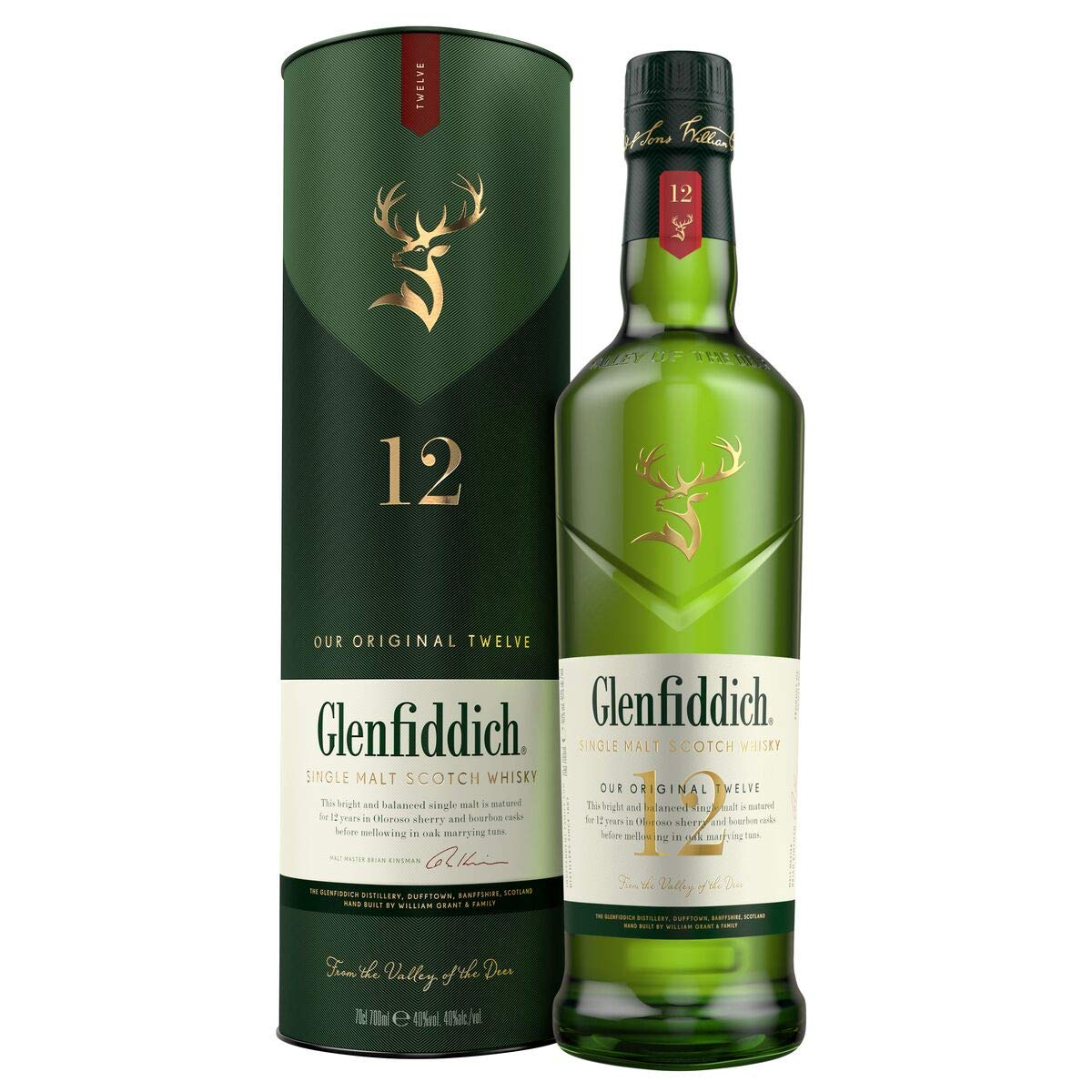 Glenfiddich 12 Year Old Whisky, 70 cl