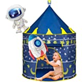 Joyjoz Kids Play Tent with 2 Balloons, Spaceship Tent for for Boys Girls, Children Play House Pop Up Tents Castle Toys for In