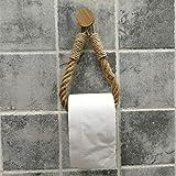 Tukcherry Portarrollos Papel higiénico Vintage – Puerta Toalla – Cuerda Industrial Baño - Portarrollo para Papel Higiénico Au