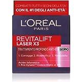 L'Oréal Paris Crema Viso Giorno Revitalift Laser X3, Azione Antirughe Anti-Età con Acido Ialuronico e Pro-Xylane, 50ml