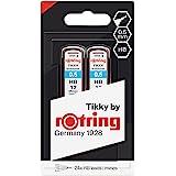 rOtring Lead Refills Hi-Polymer for Fine Mechanical Pencils 0.50mm HB - 2x 12 Leads, grey