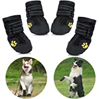 Petacc wasserdichte Hundeschuhe, 4 Pcs Hundeschuhe Pfotenschutz, wasserdicht mit Anti-rutsch Sole passend für mittlere…