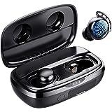 Trådlösa Öronsnäckor Bluetooth, Tribit 100H Speltid Bluetooth 5.0 IPX8 Vattentät pekstyrning Verkliga trådlösa hörlurar med m