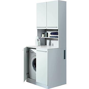 vicco waschmaschinenschrank kombination wei 185 x 103 x 60 cm badregal hochschrank. Black Bedroom Furniture Sets. Home Design Ideas