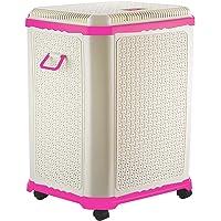 Primeway Setag XL MP Laundry Utility Storage Basket w/Lid on 4 wheels, 50L, Pink