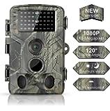 DIGITNOW! Caméra de Chasse 16MP 1080P IP65 Étanche, Caméra Surveillance avec 42Pcs LED Vision Nocturne Infrarouge Jusqu'à 80FT/25m et Grand Angle 120°