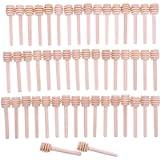 JZK 50 X Cucchiaini bastoncini miele legno piccoli mini spargimiele 8 cm cucchiai legno per miele per vasetti miele per…