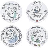 ABYstyle - Disney - Set de 4 Assiettes - Princesses