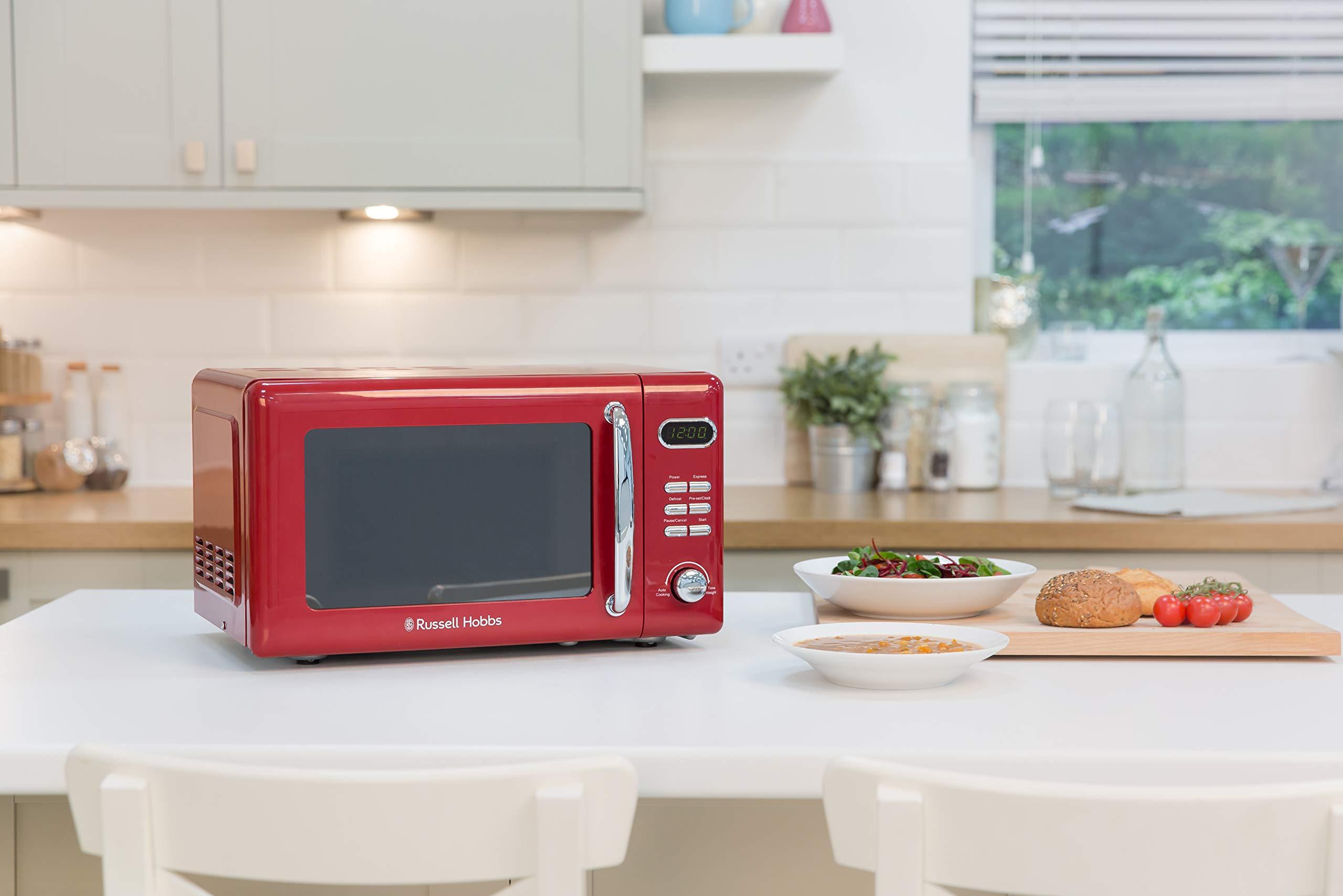 71yf66GOMyL - Russell Hobbs RHRETMD806R Solo Microwave, Red, 17 liters