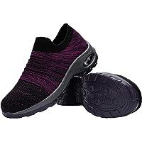 DYKHMILY Chaussure de Securite Femmes Legere Coussin d'air Chaussures de Travail Embout Acier Respirant Confort Slip-on…