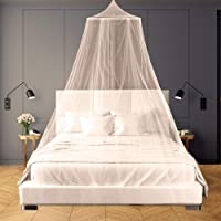 White Dome Mosquito Mesh Net Insect Net Protection, Bed Canopy Mesh Net Tent for Double/Single Bed,12 Meter Coverage Ideal for Bedroom Decorative, Holidays