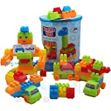 FunBlast Building Blocks for Kids with Wheel, Bag Packing, Best Gift Toy for Girls, Boys Multicolor (100 Pcs Including Wheels