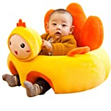 vocheer Baby Sitting Chair, Comfortable Infant Soft Plush Floor Support Seat Baby Learning to Sit Soft Animal Shaped…